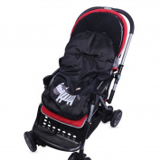 Bebeenvy Warm Soft Baby Stroller Footmuff with Cute Animal Prints,black