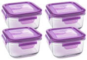 Wean Green Lunch Cubes Glass Food Containers - Grape