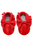Mosunx(TM) Autumn Baby Moccasins Bow Shoes Newborn Firstwalker Anti-slip Leather Infant Shoes