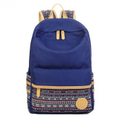 Artone Canvas Tribal Stripes Travel Daypack Campus Backpack With Interior Pockets