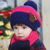 FuzzyGreen Kids Winter Beanie Hat Scarf Set Hats Bundle