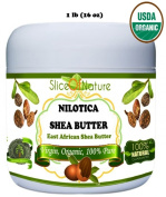 Slice of Nature USDA Certified Organic East African Shea Butter - 100% Nilotica Shea Butter Raw, Unrefined, Pure - Shea Butter for Hair, Shea Butter Lotion, Shea Butter Hand Cream, Shea Body Butter
