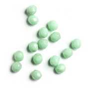60 pcs 4 mm Czech Fire Polished Faceted Round Glass Bead, Opaque Mint Green