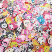Bluemoona 1 Set - Mixed Animal Nail Art Fimo Canes Rods Sticks Fimo Polymer Clay Spacer strip 3D Decoration