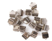 250pcs 6mm Textured Plated Metal Ribbon Bracelet Bookmark Pinch Crimp End Findings With Silvery/Golden/Rhodium/ Bronze Plated