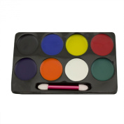 Adorox 8 Colour Face Painting Makeup Set Kit Halloween Clown Accessory Prop