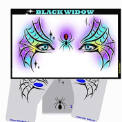 Halloween Face Painting Stencil - StencilEyes Black Widow