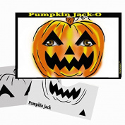 Halloween Face Painting Stencil - StencilEyes Pumpkin Jack-O