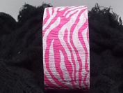 Pink Zebra Crepe Paper Roll 4.8cm x 26m - Party Supplies (1 Roll)