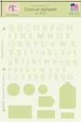 Classical Alphabet & Numbers Stencil, 20cm - 1.3cm x 28cm