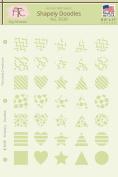 Shapely Doodles Geometric Stencil, 20cm - 1.3cm x 28cm