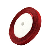 1cm 24-Yard Decorative Coloured Ribbon String for Gift Wrap Crafts Price Tags DIY Works Red