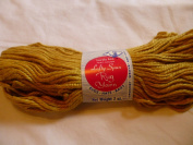 Lovely Ann Gold (Light Brown) Lofty Spun Yarn 75% Rayon 25% Cotton No. 0634 Gold