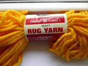 Orange Grant Crest Heavy Rug Yarn. 75% Rayon, 25% Cotton. Orange #18457