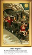 Santa Express, Vintage Christmas Cross Stitch Pattern