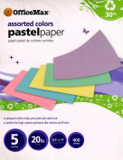 Office Max Assorted Colours Pastel Paper-5 Colours - 9.1kg. - 22cm x 28cm - 400 Sheets