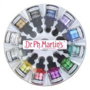Dr. Ph. Martin's Iridescent Calligraphy Colour Bottles, 30ml, Set of 12