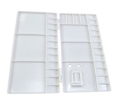 White Plastic Many Compartments Watercolour Paint Tray Mixing Palette