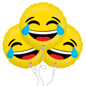 Laughing LOL Emoji Mylar Balloon 3 Pack
