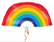 Rainbow Foil Mylar Balloon - 80cm x 70cm