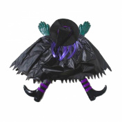 3-D Crashed Witch Hanging Decoration 60cm , Assorted - Colours Vary
