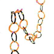Glitterville Orange Black Chenille Beaded 1.8m Chain Garlands