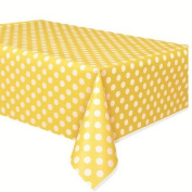 Sun Yellow Dots Tablecover - 3 pack