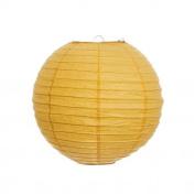 Yellow 41cm Paper Lanterns - Set of 2