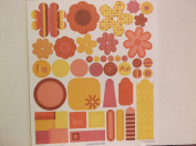 Ki Memories Fresh Acents Cardstock Stickers Flowers & Tags *Colourful*