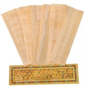 10 Blank Egyptian Papyrus bookmarks for Art Projects and Schools 7.2 x2.0 inch (5x18 cm ) by CraftsOfEgypt