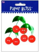 Westrim Paper Bliss Adhesive Button Embellishment - Cherries