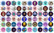 60 Precut Bottle Cap Images Cute Owls Set 2