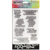Ranger Dylusions Clear Stamp & Stencil Set - Dyan Reaveley - Quote Medley