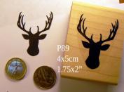 P89 Stag, antlers, deer rubber stamp