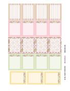 Monthly Planner Stickers Cottage Chic Vintage Roses Full Box Sampler Planner Labels Fits Erin Condren Life Planner
