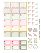 Monthly Planner Stickers Cottage Chic Vintage Roses Half Boxes Plus Planner Labels Fits Erin Condren Life Planner