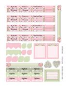 Monthly Planner Stickers Cottage Chic Vintage Roses Sampler 2 Planner Labels Fits Erin Condren Life Planner