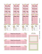 Monthly Planner Stickers Cottage Chic Vintage Roses Sampler 1 Planner Labels Fits Erin Condren Life Planner