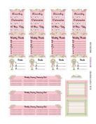 Monthly Planner Stickers Cottage Chic Vintage Roses Sampler 1 Planner Labels Fits Erin Condren Life Planner