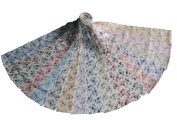 17 6.4cm Quilting Fabric Jelly Roll Strips Beautiful Whisper Calico Floral