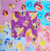 10 27cm Layer Cake Disney Licenced Princess Quilt Fabric Squares
