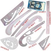 10 Stlye Fashion Ruler Set PGM Vary Form Curve French Curve Pattern Grading Rulers Curve Stick Pattern Design Ruler Set, Design Craft Sewing Tool