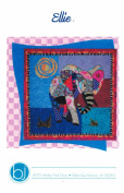 Ellie Elephant Machine Applique Quilt 90cm by 90cm Wall Hanging Pattern