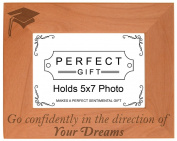 Graduation Gift Graduating Senior Quote Grad Natural Wood Engraved 5x7 Landscape Picture Frame Wood