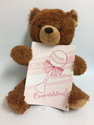 "Zazie ""New Baby"" Teddy Bear with Oversized Baby Card"