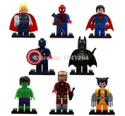 The Avengers Marvel DC Super Heroes Series Building Blocks Sets Minifigure Bricks Toys Compatible With Lego 8Pcs/Set