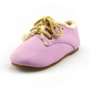 Girl's Winter Suede Shearling Oxford Shoes Faux Furry Lining Toddler Size