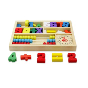 Ziyier G & E Wooden Toys Digital Learning Box Boxes Intellectual Building Block Toys Early Education