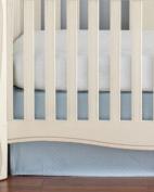 The Little Acorn Sweetpea Crib Skirt, Blue/White
