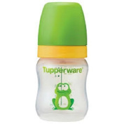 Tupperware Feeder with Teat (1 Bottle) Green Frog 150ml for 0-6 Months Baby